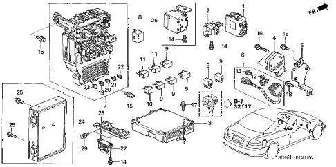 Honda online store : 2003 accord control unit (cabin) parts