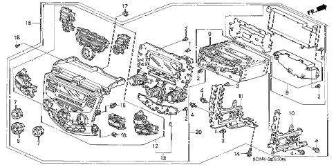 Honda online store : 2004 accord center module (alpine