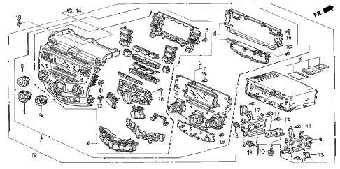 Honda online store : 2005 accord center module (stanley