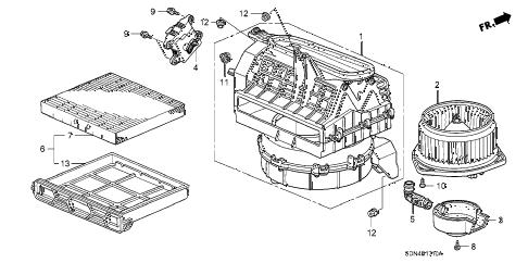 Honda online store : 2003 accord heater blower parts