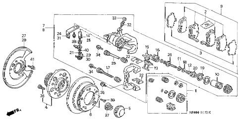 Honda online store : 2006 accord rear brake (disk) parts