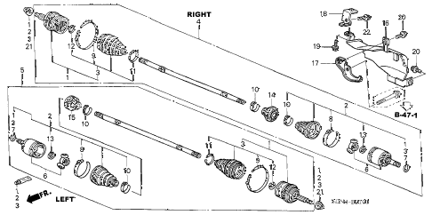 Honda online store : 2005 accord driveshaft (l4) (at) parts