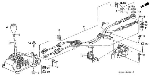 Honda online store : 2004 accord shift lever (v6) parts