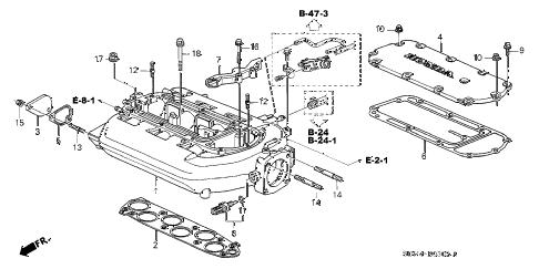Honda online store : 2003 accord intake manifold (v6) (at