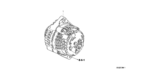 Honda online store : 2003 accord alternator (delfi) (v6) parts