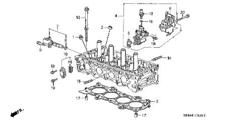 Honda online store : 2003 accord vtc oil control valve (l4