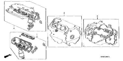 Honda online store : 2003 accord gasket kit (v6) parts