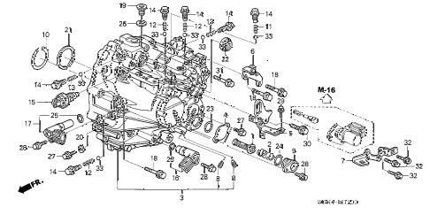 Honda online store : 2005 accord mt transmission case (v6