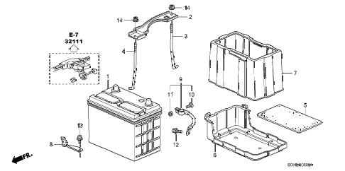 Honda online store : 2007 accord battery (l4) parts