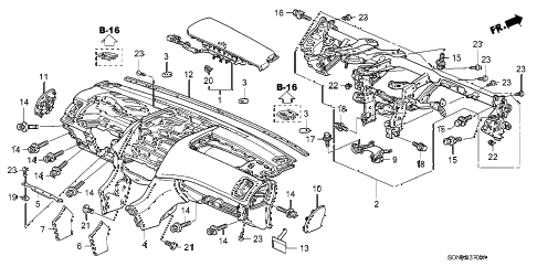 Honda online store : 2007 accord instrument panel parts