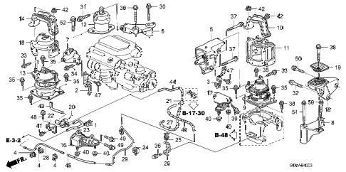 Honda online store : 2007 accord engine mounts (v6) (at) parts