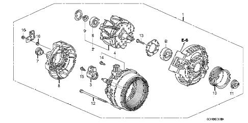 Honda online store : 2007 accord alternator (denso) (l4) parts