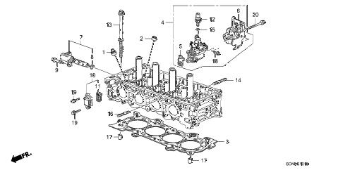 Honda online store : 2007 accord vtc oil control valve (l4