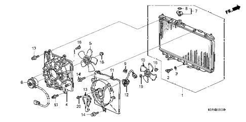 Honda online store : 2005 accord radiator (denso) parts