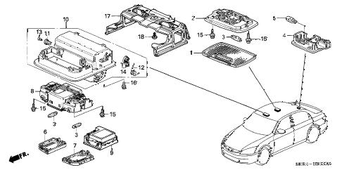 Honda online store : 2006 accord interior light parts