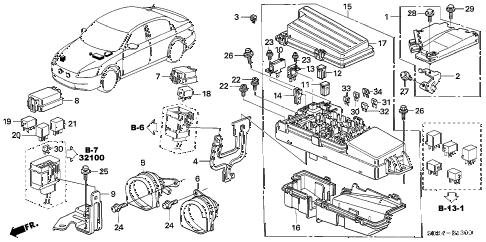 Honda online store : 2005 accord control unit (engine room