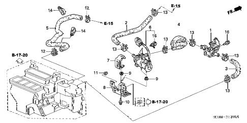 Honda online store : 2007 accord water valve parts