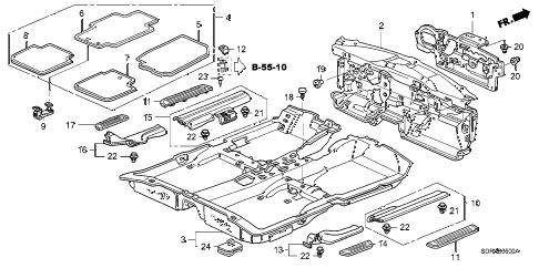 Honda online store : 2005 accord floor mat parts