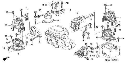 Honda online store : 2007 accord engine mounts parts
