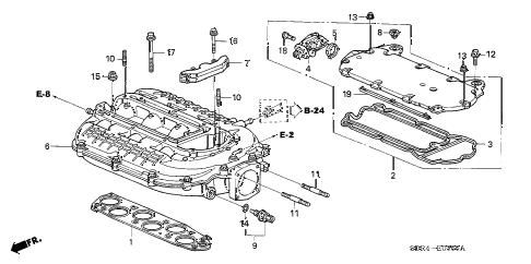 Honda online store : 2005 accord intake manifold parts