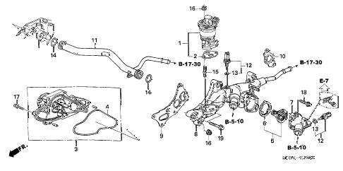 Honda online store : 2005 accord water pump parts
