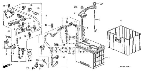 Honda online store : 2007 odyssey battery (1) parts