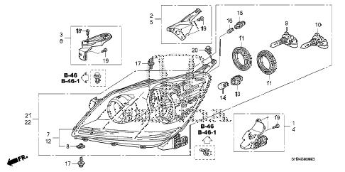 Honda online store : 2007 odyssey headlight parts