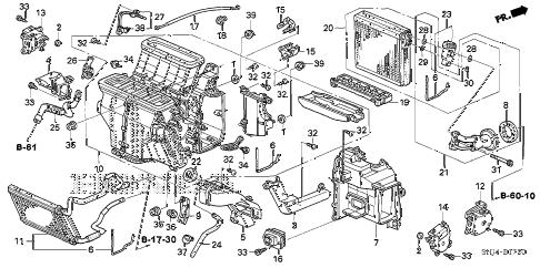 Honda online store : 2006 odyssey heater unit parts