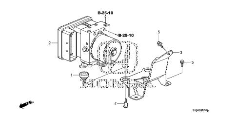 Honda online store : 2005 odyssey vsa modulator parts