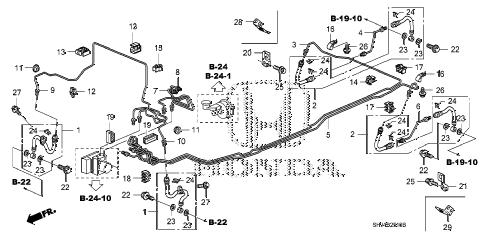 Honda online store : 2007 odyssey brake lines (vsa) parts