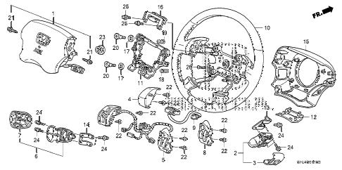 Honda online store : 2010 odyssey steering wheel (srs) parts
