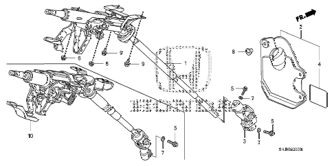 Honda online store : 2007 odyssey steering column parts