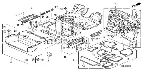 Honda online store : 2007 odyssey floor mat parts