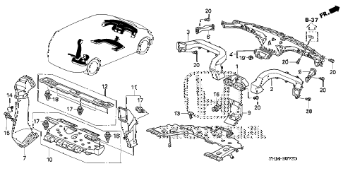Honda online store : 2006 odyssey duct parts