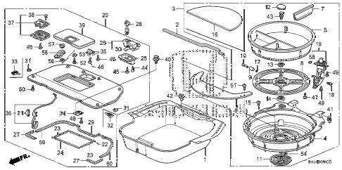 Honda online store : 2006 odyssey rear floor bucket parts