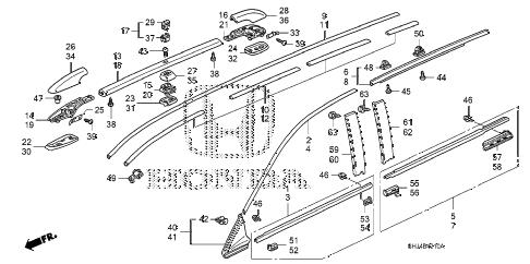 Honda online store : 2006 odyssey molding parts