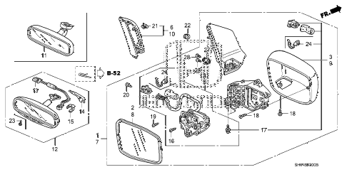 Wiring Diagram Database: Honda Odyssey Side Mirror