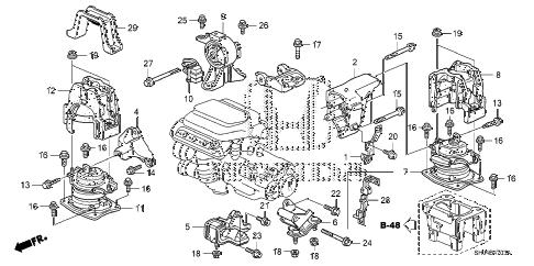 Honda online store : 2008 odyssey engine mounts ('07-) (2