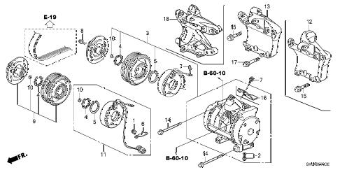 Honda online store : 2005 odyssey a/c compressor parts