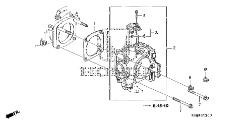 Honda online store : 2005 odyssey throttle body (-'06) parts
