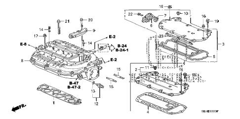 Honda online store : 2007 odyssey intake manifold (1) parts