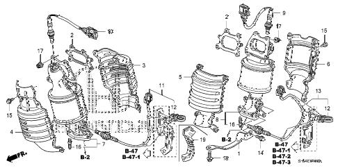 Honda online store : 2008 odyssey converter (1) parts