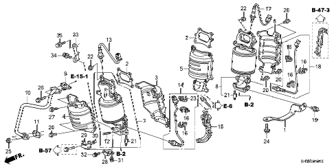 Honda online store : 2010 odyssey converter (2) parts