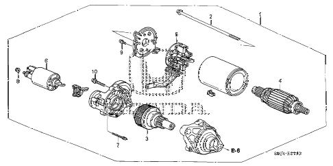 Honda online store : 2006 odyssey starter motor (mitsuba