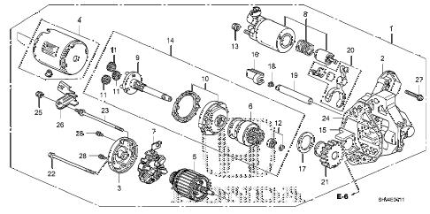 Honda online store : 2007 odyssey starter motor
