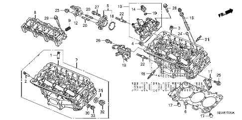 Honda online store : 2008 odyssey rear cylinder head (3) parts
