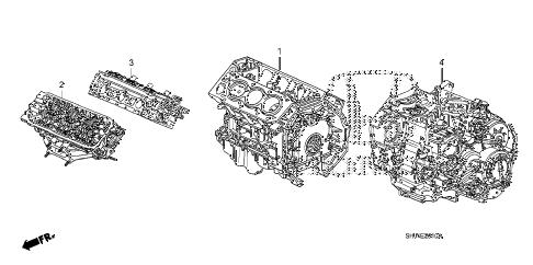 Honda online store : 2006 odyssey engine assy
