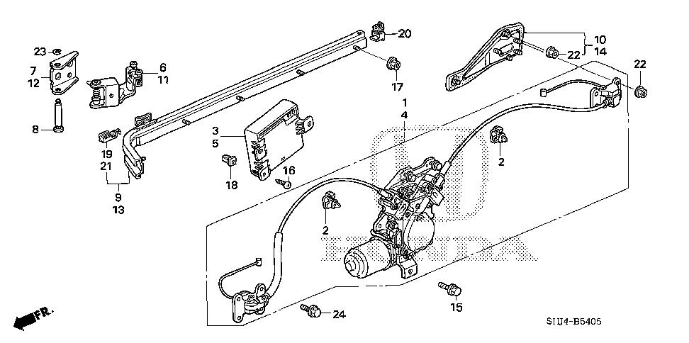 Honda online store : 2005 odyssey slide door motors parts