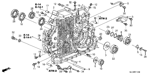Honda online store : 2007 ridgeline at torque converter