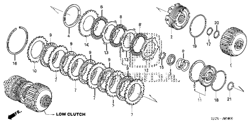 Honda online store : 2006 ridgeline at clutch (low) parts